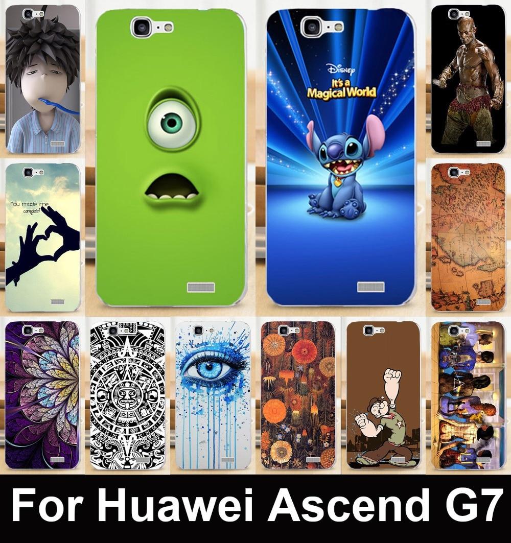 TAOYUNXI Мягкие TPU тяжелых случаях телефон для huawei Ascend G7 C199 круто нарисовано задняя крышка вытяжки кожи Щит грязи прочные мешки