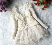 Free Shipping Fight Clang Clang Partner Bear Kids 2014 Spring New Korean Ladies Lace Jumpsuit Skirt