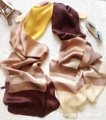 180*65cm 100% Real Silk Plaid Scarf Luxury Brand Runway Shawl 2017 Echarpe Foulard Femme Bandanas Women's Hijab Scarves Wraps L