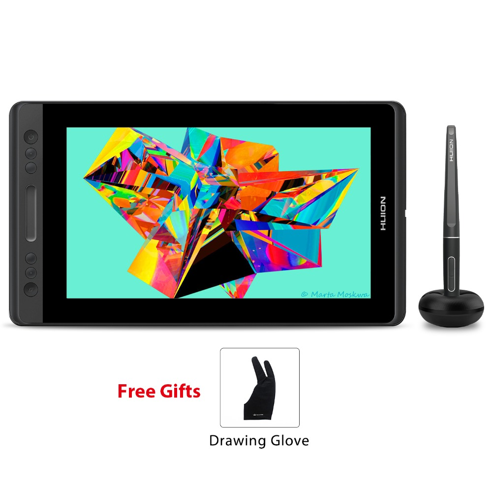 HUION KAMVAS Pro 13 GT-133 Stylo couleur principale tablette numérique Batterie-stylo gratuit Affichage Dessin Moniteur avec Tilt Func AG Verre