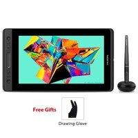 Huion kamvas pro 13 GT 133 caneta tablet monitor digital tablet bateria livre caneta display desenho monitor com tilt func ag vidro Tablets digitais     -
