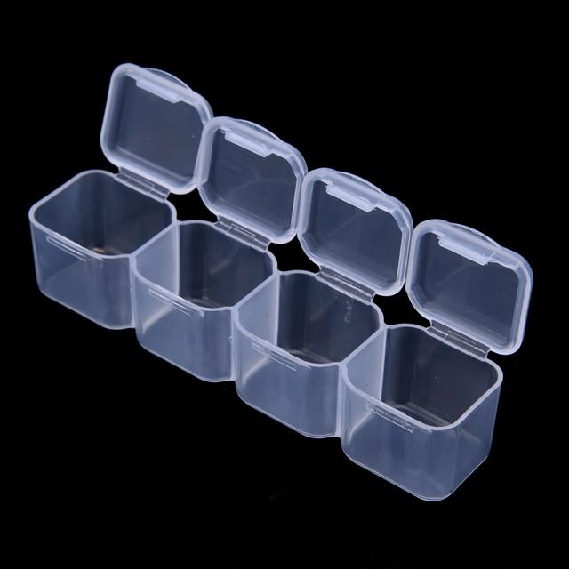 28 Slots Clear Plastic Empty Storage Box Nail Art Rhinestone Tools Jewelry Beads Display Storage Box Case Organizer Holder