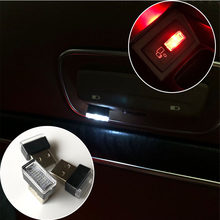 1 Piece Car USB LED Atmosphere Decorative Lights for Peugeot 206 207 208 301 307 308 407 408 508 2008 3008 4008(China)