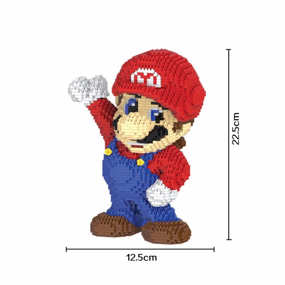 hot LegoINGlys creators Funny Classic game character Super Mario figures MOC micro diamond building blocks model brick toys gift