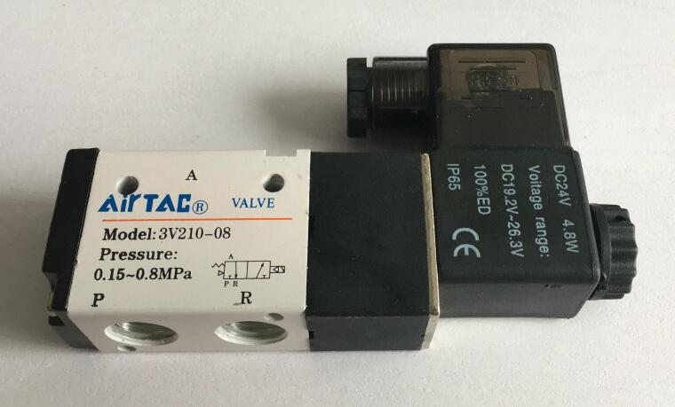 Pneumatisches Magnetventil AIRTAC Typ 3V210-08 3 Wege 2 Position 1//4 AC 220V