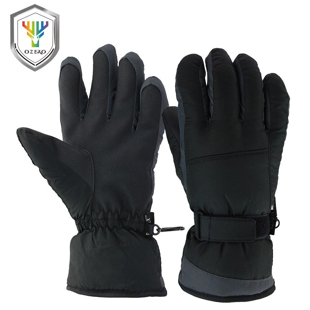 Womens leather ski gloves - Ozero Winter Ski Gloves 30 Degree Warm Skiing Snowboard Sports Windproof Waterproof Unisex Snow Gloves
