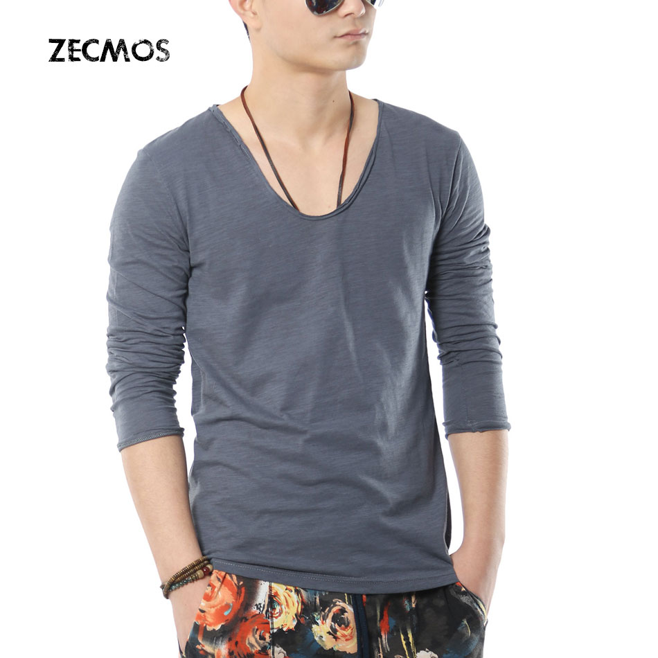 V neck long sleeve shirts for men reviews online for Online shopping mens shirts