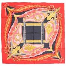 Элегантный бренд ручной работы саржевый шелковый шарф TWIC-149440