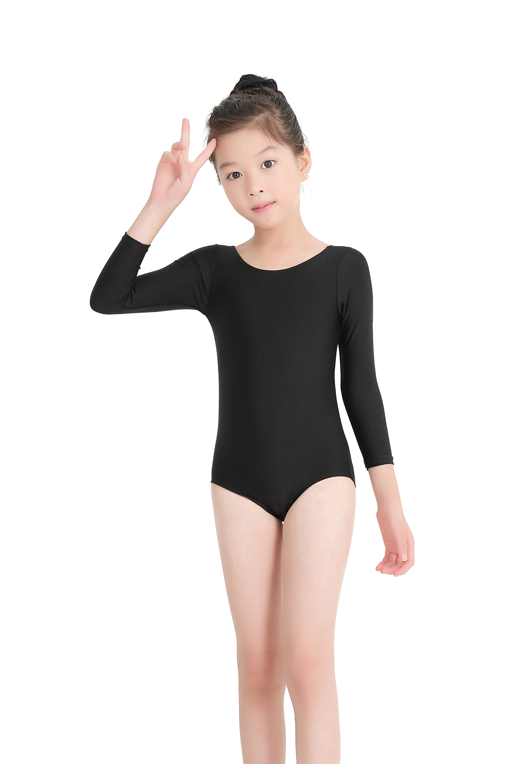 14a3bd8bd SPEERISE Leotard for Girls Toddler Long Sleeve Gymnastics Leotards ...