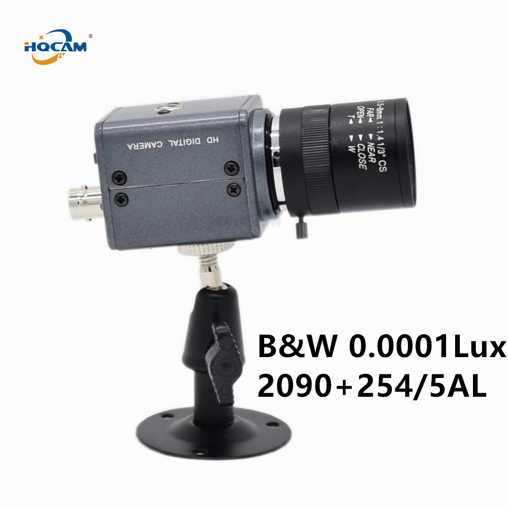 HQCAM CCD B&W Camera SONY CCD 254AL 255AL Ultral Low Illumination 0.001Lux Black And White Camera Industrial Inspection Camera