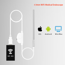 4 9mm Wireless WiFi Medical Endoscope Ear Otoscope Camera Waterproof Endoscope Camera For Android PC iphone