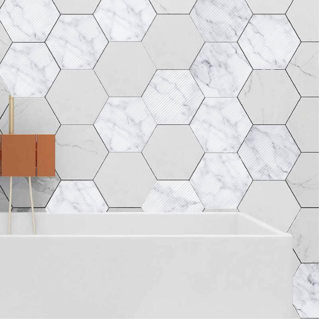 Pcv Marmur Sześciokątne Płytki Ceramiczne Anti Slip Diy Cegły ściany