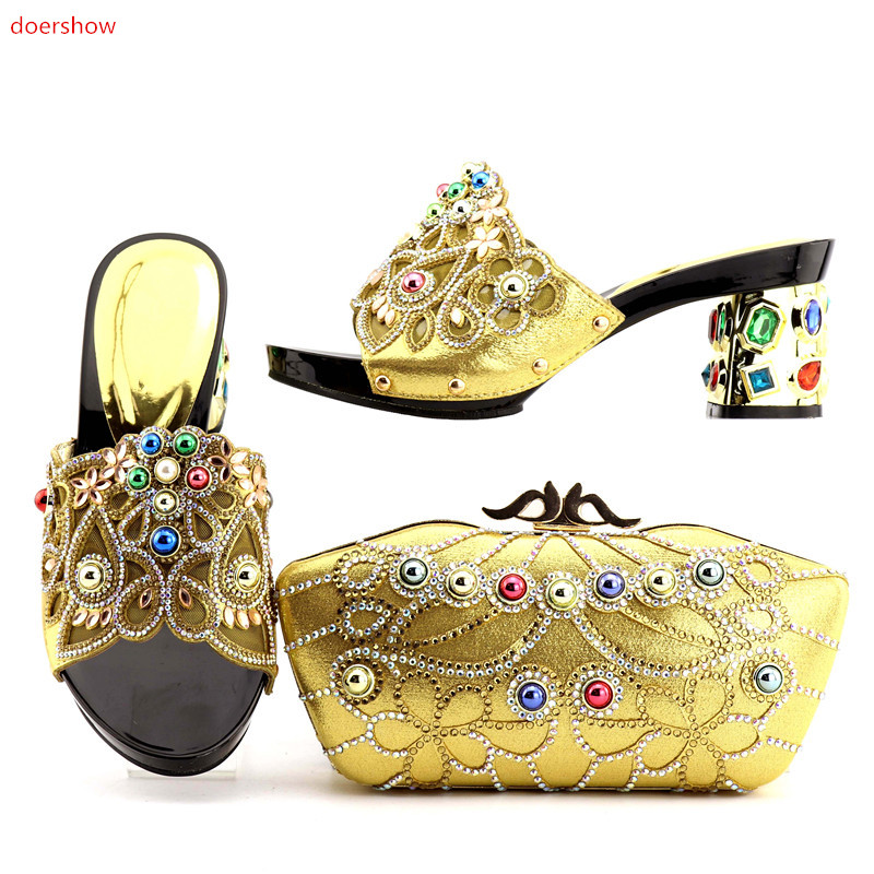 doershow African Shoe and Bag Set for Party In Women Matching Shoes and Bags for Wedding Italian Shoe with Matching Bags!DA1-2 richelle mead succubus heat