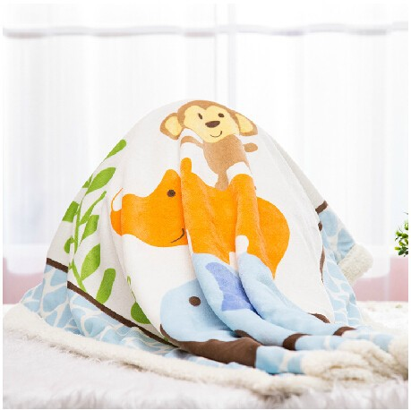 Hot Sale Warm Winter Fleece Baby Blanket Newborn Fleece Blanket Safari Sherpa Bedding Luvable Friends Baby Blanket & Swaddling-22
