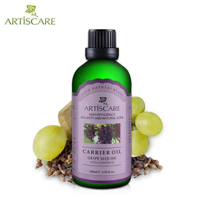 100ml natural grape seed oil for Delay Ageing instantly ageless products body elastic oil SPA massage facial oil essential oils
