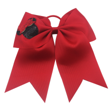 7 Inch Cat Cheer Bow Hair Bows Printed stripes cheer bows Ribbon with Ponytail for Girls Gifts Mom Cheerleading Shirt