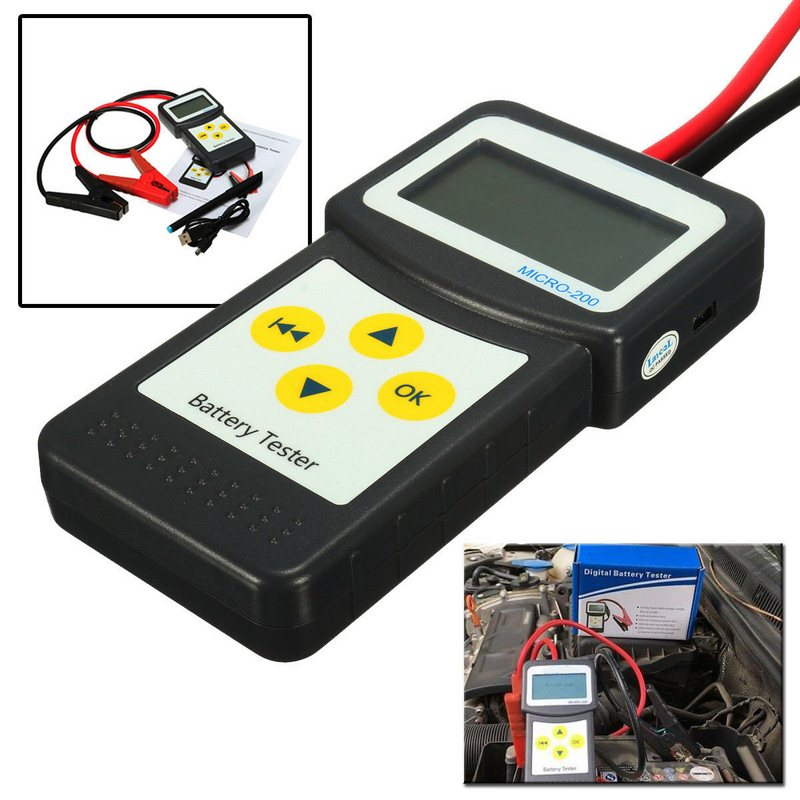 MICRO-200 battery tester lead-acid starter 12V Aumotive battery capacity tester With Inside Print CCA Car Battery Tester Analyzer (8)