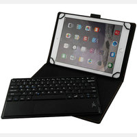 9 7 10 Inch Tablet PC Wireless Bluetooth Keyboard With Touchpad PU Leather Case Cover Stand