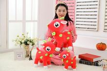 big lovely plush red sika deer toy cute cartoon sika deer doll gift about 45cm