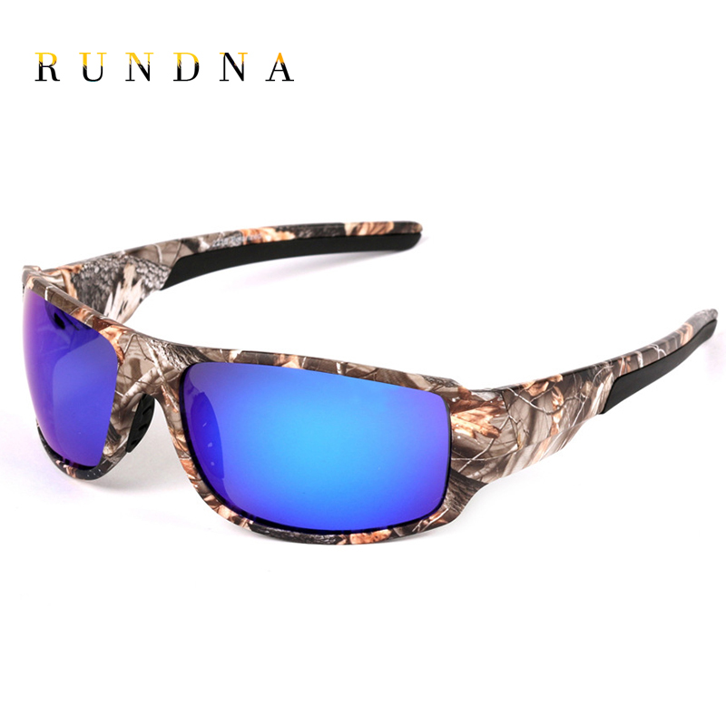 RUNDNA Camo Frame Polarized Sports Sunglasses Outdoor Camping Hunting Cycling Bike Ridin ...