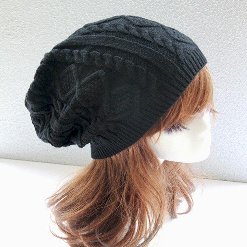 Hip Hop Knitted Hat Women's Men Winter Warm Casual Acrylic Slouchy Hat Crochet Ski   Beanie   Hat Female Soft Baggy   Skullies     Beanies