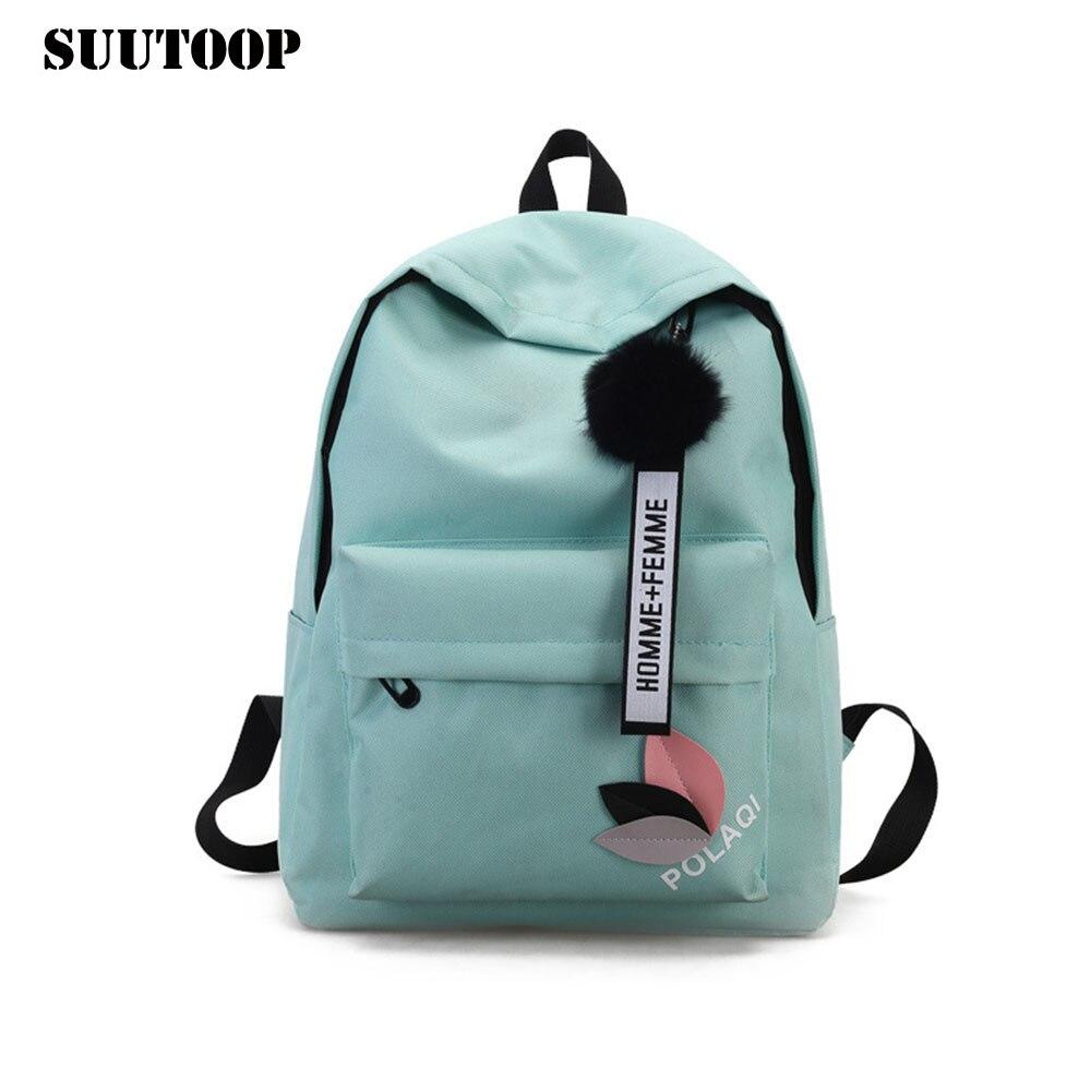 New Female Rucksack Women Bag Preppy Style Canvas Backpack Feminina New Design Schoolbag College School Travel Pack Fashion 2019