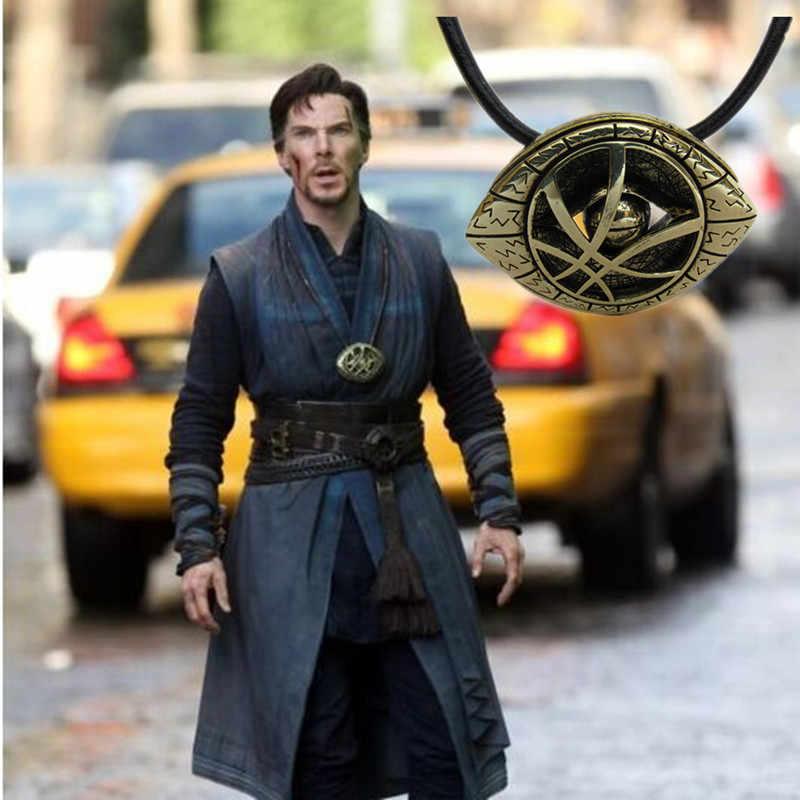 2019 les Avengers poussent dans le docteur sombre collier étrange 80cm en forme d'oeil pendentif cordon Long collier bijoux Cosplay