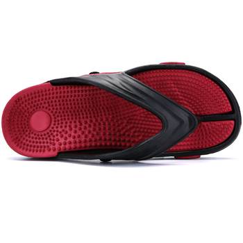 2019 Men Slippers Shoes Big Size Fashion Massage Summer Water Male Sandals High Quality Flat Beach Shoes Non-slip Mens Flip Flop 1