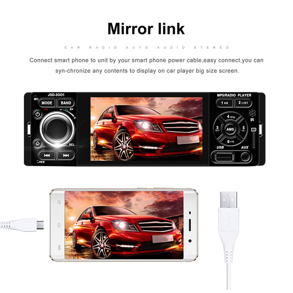 4.1 inch touch screen MP5 car player Bluetooth hands-free support reversing priority mobile phone with the screen4.1 inch touch screen MP5 car player Bluetooth hands-free support reversing priority mobile phone with the screen