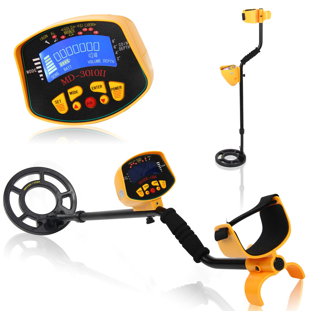High Quality Metal Detector LCD Screen Deep Target Power Coils High Performance Underground Industrial Yellow Metal Detectors