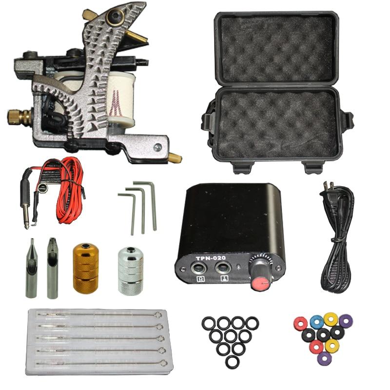 YILONG High Quality Complete Tattoo Kit Set Equipment Machine Power Supply gun needles Wholesale yilong yilong lcd dual tattoo machine gun power supply
