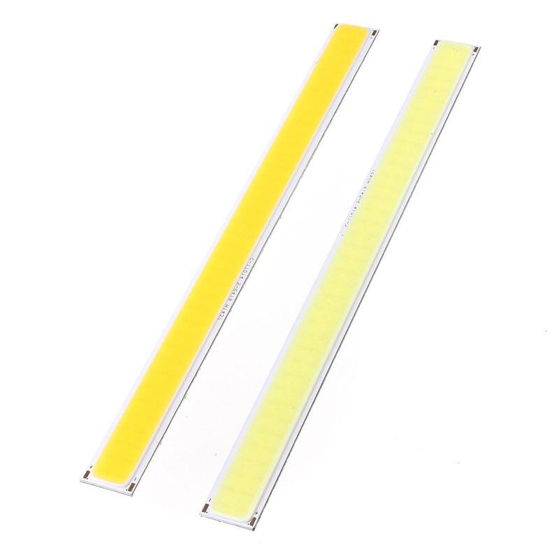 6W COB 76 LED Chip Strip Lmap Bar Light Pure Warm White 520 Lumen Home Bulb For DIY Car Auto Light Source DRL Lamp DC 12V