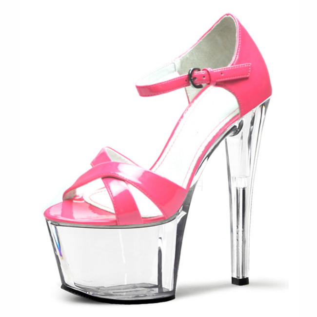 3fd1b58b1b9 New Limited Edition Super Sexy High Heel Shoes Open Toe Black Heels Strappy  Sandals 17 18 20CM High Heel Platforms Shoes-in Women s Sandals from Shoes  on ...