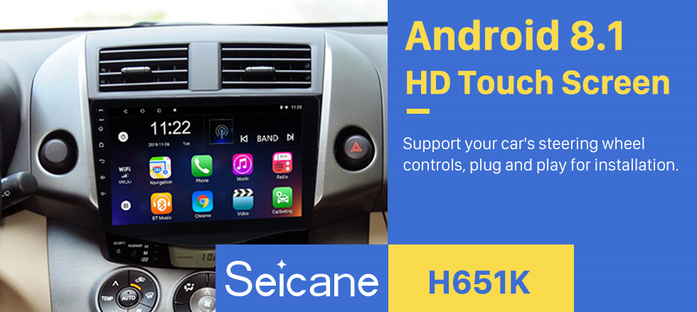 Seicane Android 8 1 9 inch 2Din Car Radio For 2013 Toyota RAV4 HD  Touchscreen GPS Navi car Multimedia Player Support 3G Wifi