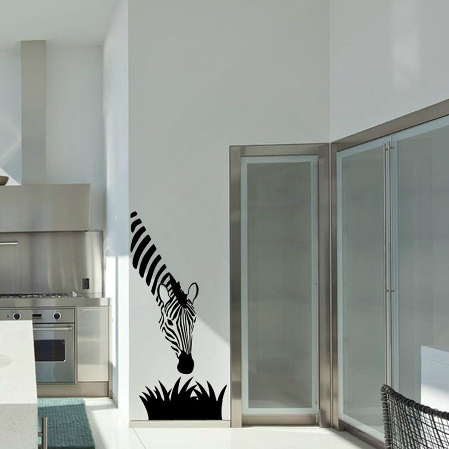 Zebra wandtattoos moderne kunst dekoration für ihre küche ...