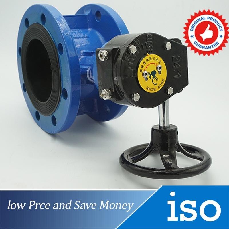 DN100 GB Standard Manual Flange Butterfly valve ethylene propylene soft seal butterfly valve pn 1 6 dn65 manual flange valve
