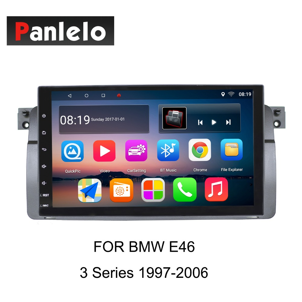 Panlelo pour BMW série 5 E60 2003-2010 série 3 E46 1997-2006X5 E53 1999-2006 Android 8 autoradio GPS Navigation Auto Radio AM
