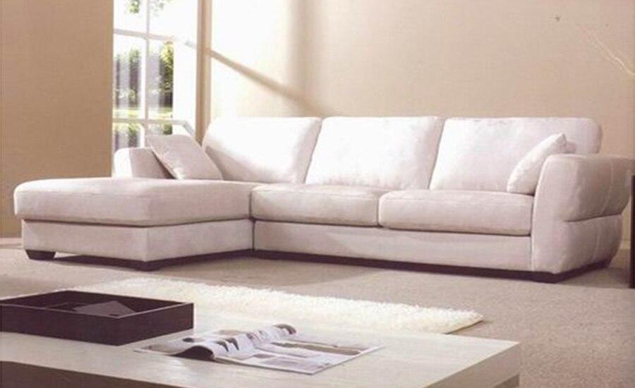 Free Shipping Modern Fabric Sofa 2013 French Design New Living Room L Shaped  Fabric Corner Sofa