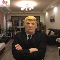 Free Shipping Sarcastic Mask Soft Rubber President T Scary Halloween Party Costume Dress Make Up Horror