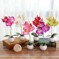 Flores decoración del hogar Flores ornamentales mariposa orquídea Artificial Flor de seda boda favores y regalos
