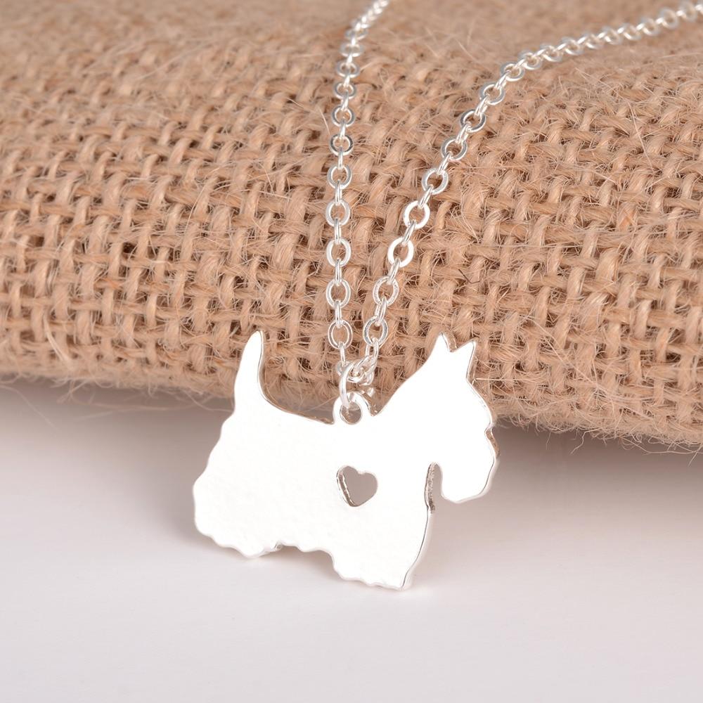 Gold & Silber 1pc Scottish Terrier Halskette Scottie Halskette Custom - Modeschmuck - Foto 4