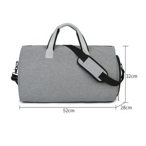 Image 2 - Men Large Travel Bags Foldable Duffle Bag Business Weekend Bags Oxford Suit Protect Cover Women Travel Bag Organizer Handbags