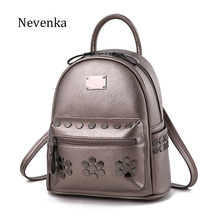 NEVENKA Women Rivet Backpack Simple Style Backpacks Female Casual Life Style Shoulder bag Lady packsack Casual Zipper Mochila