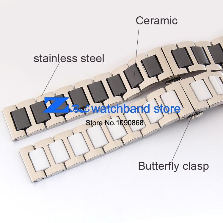 16mm 18mm 20mm keraamiline käevõru ja roostevabast terasest - Kellade tarvikud - Foto 4