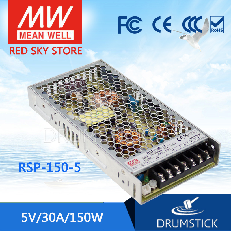 все цены на Hot! MEAN WELL RSP-150-5 5V 30A meanwell RSP-150 5V 150W Single Output with PFC Function Power Supply онлайн