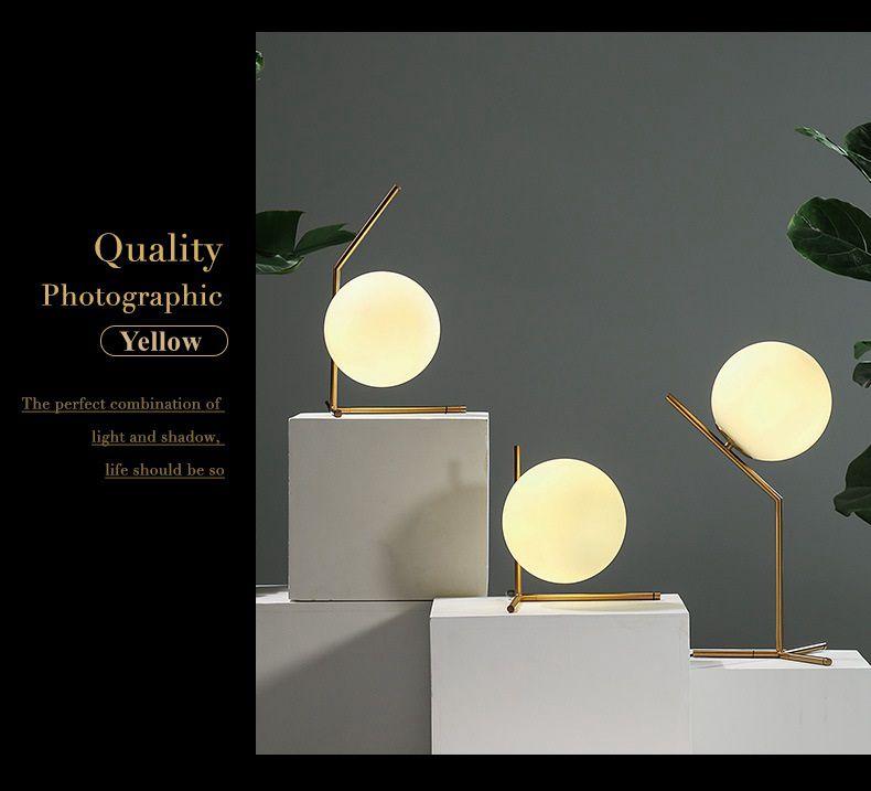 Modern LED Table Lamp Desk Lamp Light Shade Glass Ball Table Lamp Desk Light for Bedroom Living Room Floor Conner Gold Designs (20)