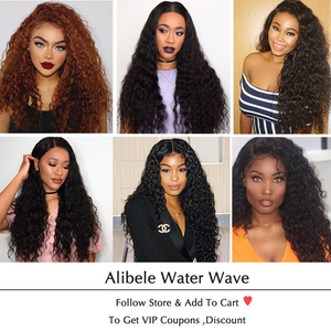 Image 5 - Alibele Hair Malaysian Water Wave Bundles with Closure 100 Remy Human Hair Bundles With Closure Remy Hair 3 Bundles With Closure