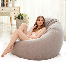 Bean Bag Sofa Cover Lounger Chair Sofa Ottoman Seat Living Room Furniture Without Filler Beanbag Bed Pouf Puff Couch Lazy Tatami(China)