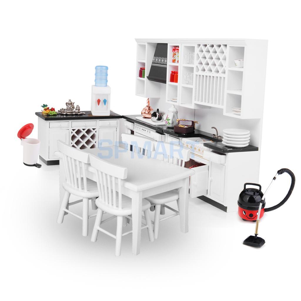 Europäische 1/12 Puppenhaus Miniatur möbel Aus Set Küchenschrank ...