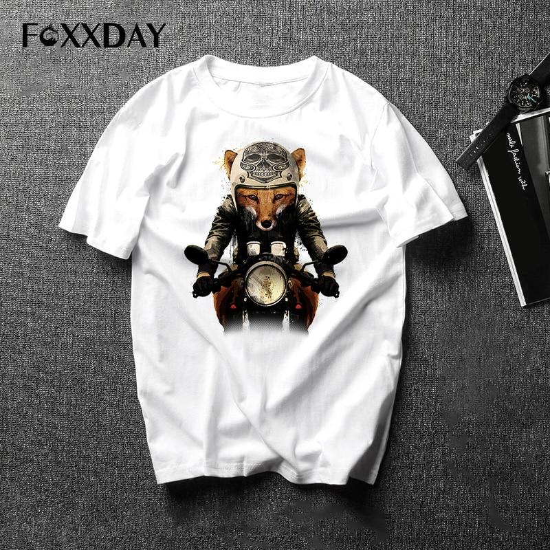 T shirt Men funny Fox Men's Cool Short Sleeve T-Shirt Fashion Animals Printed men's Tee Shirt 2018 New Arrivals Tops sizs S-3Xl